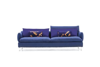 Shanghai Tip 3 Seater Sofa A4500 - Art.48045 - 206 beige, Chromed Steel Feet