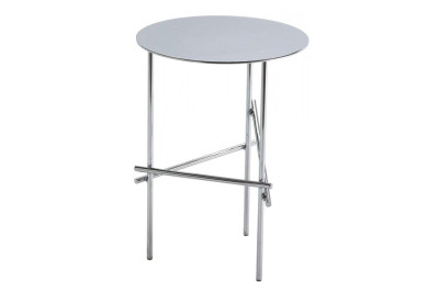 Shanghai Tip Round Side Table White Matt