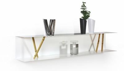 "Shelf ""Wandregal C-05"" Oiled oak wood (= natural)"