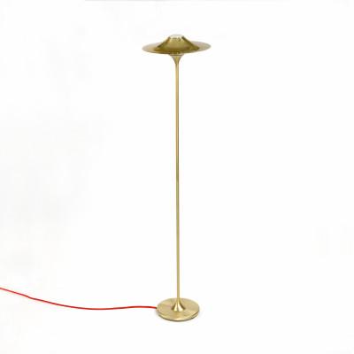 Skew Floor Lamp Brass