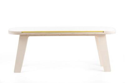 Slim Touch Bench White, Yellow, Grey