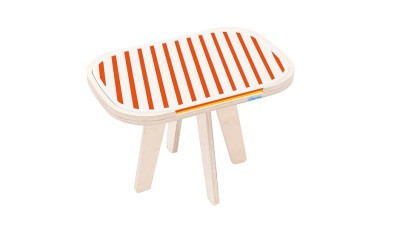 Slim Touch Side Table Orange & Yellow