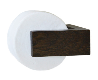 Slimline Toilet Roll Holder Wall Dark Oak