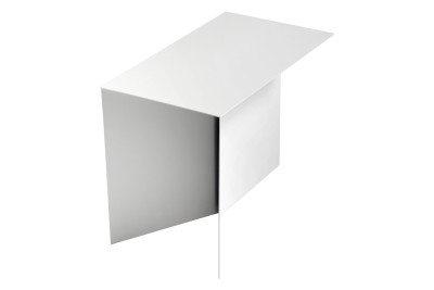 Slit Oblong Side Table White