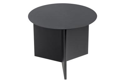 Slit Round Side Table Black