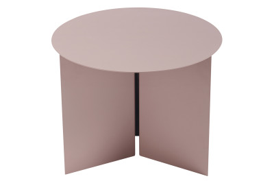 Slit Round Side Table Rouge, Ø45 cm