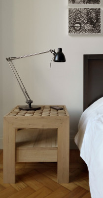 Sofia Bedside Table with Drawer Bed side