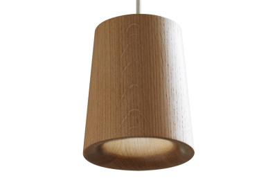 Solid Cone Pendant Light Natural Oak