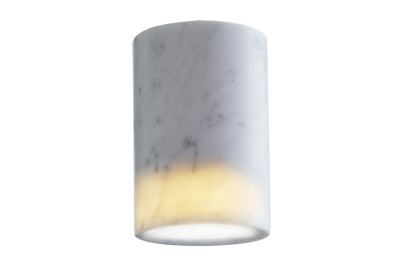 Solid Cylinder Downlight Carrara Marble