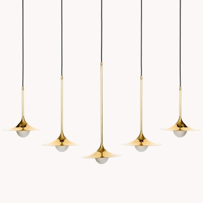Solo Disc 5 Suspension Light Brass