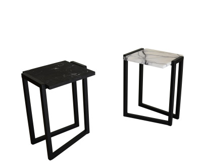 Splay Side Table White/Purple