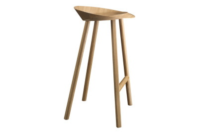 ST10 Jean Stool Lacquered Oak Veneer, Low