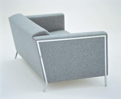 Steel Major 2 Seater Sofa A4500 - Art.48045 - 206 beige, Oxidored Base
