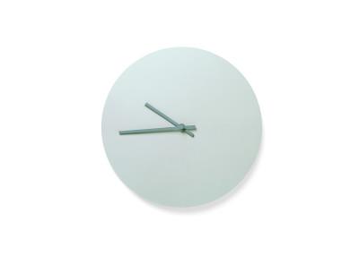 Steel Wall Clock Green
