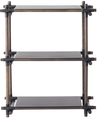 Stick System Shelving, 1x3 Black