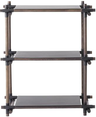 Stick System Shelving, 1x3 Grey