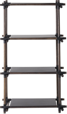 Stick System Shelving, 1x4 Black