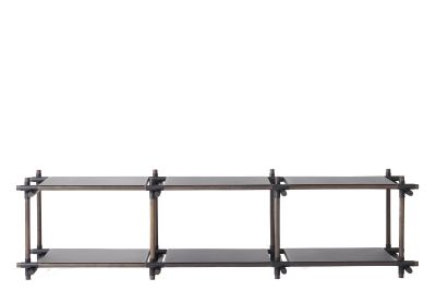 Stick System Shelving, 3x2 Black