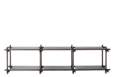 Stick System Shelving, 3x2 Grey
