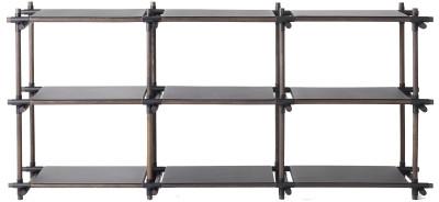 Stick System Shelving, 3x3 Grey
