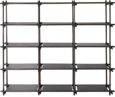 Stick System Shelving, 3x5 Black