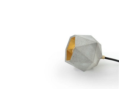 [T2] Up Floor Light Triangle Light Grey Concrete, Gold Plating