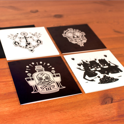 Tattoo Design Postcards  1