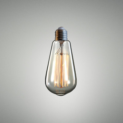 Tear Drop Bulb Clear