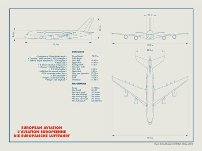 Technical Drawing A380 Print