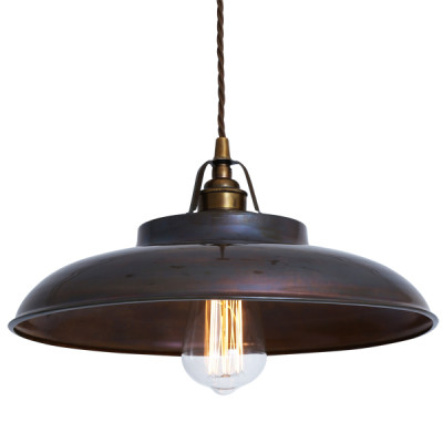 Telal Minimalist Factory Pendant Light Antique Brass