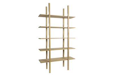 The Wooden Shelf 1 Column Bookcase WS25, Tall