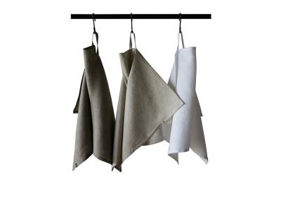 Three linen tea towels Neutral
