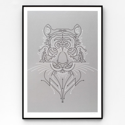 Tiger A2 limited edition screen print