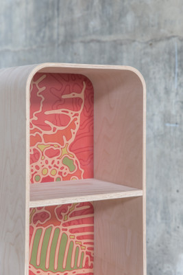 Tonton Grasshopper Bookcase Rosa