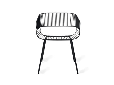 Trame Outdoor Dining Chair Black