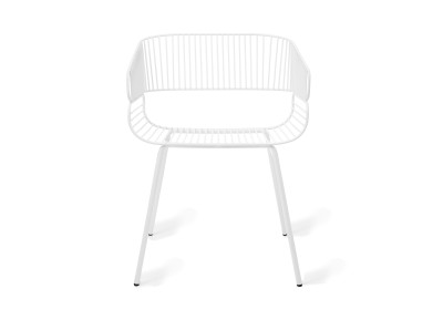 Trame Outdoor Dining Chair White