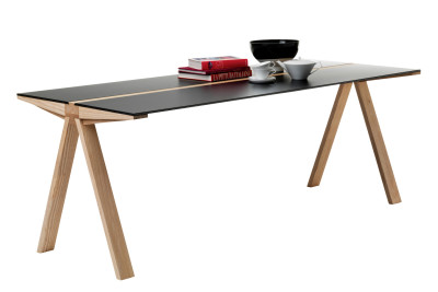 Traverso Cantilever Dining Table Black Top