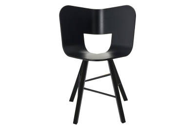 Tria Four Legged Dining Chair Black