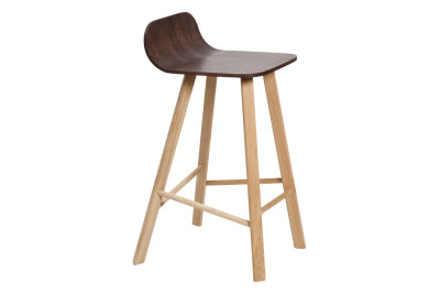 Tria Low Backed Bar Stool Coffee