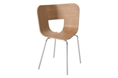 Tria Metal Legged Dining Chair Oak
