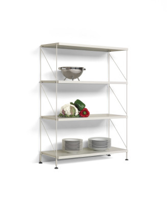 Tria Pack Floor Shelving System White
