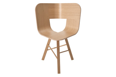 Tria Three Legged Dining Chair Oak