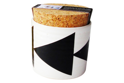 Triangles Sugar Jar  Black