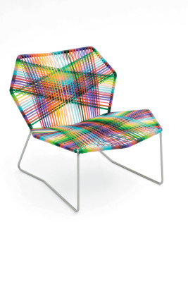 Tropicalia Armchair White, Black Quartz