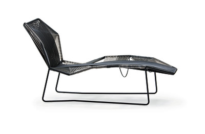 Tropicalia Chaise Longue White, Black Quartz