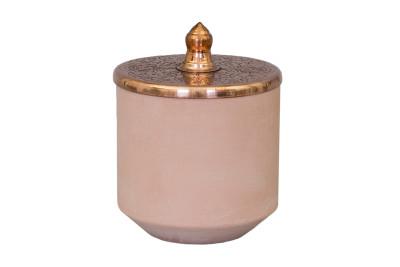 Tunisia Made Short Jar Copper