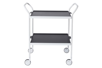 Two Tier Modern Trolley Black