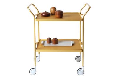 Two Tier Modern Trolley Gold