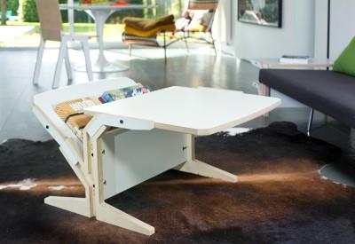 Vegetale Coffee Table - Vertical & Horizontal Tablet Snow White