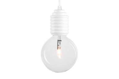 Vidon Pendant Light White, 180cm Cable With Ceiling Rose